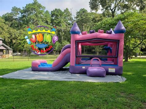 Princess 4 in 1 (Wet) combo bouncy house with slide