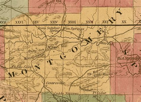 Map resources for Montgomery County Arkansas