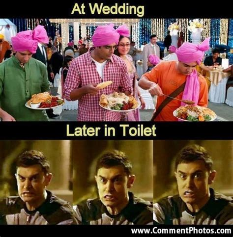 At Wedding and Later In Toilet - 3 Idiots - Amir Khan