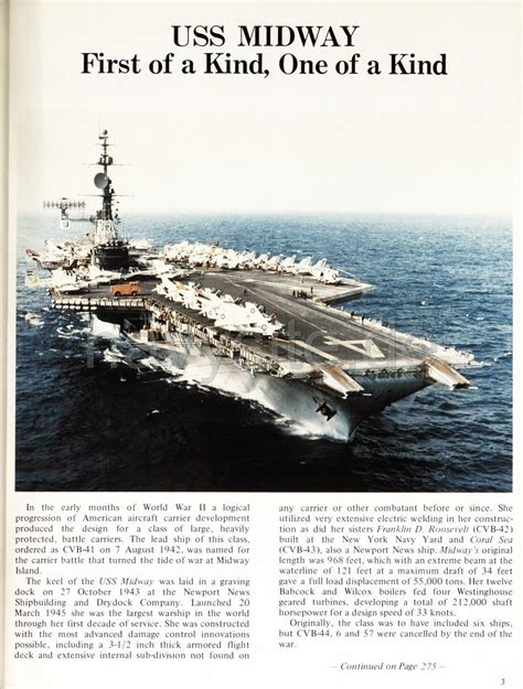 USS Midway (CV 41) WestPac Cruise Book 1978-79 - History