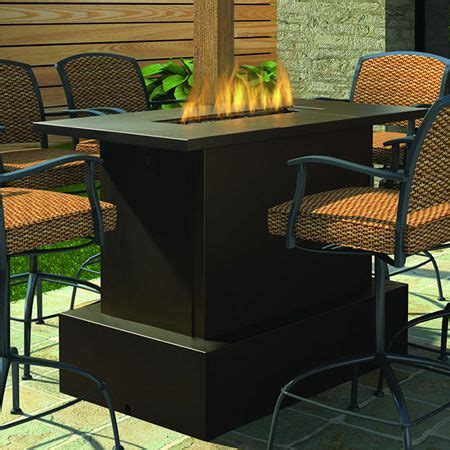 Bar Height Patio Table With Fire Pit - WoodWorking