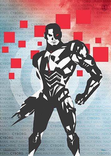 Justice League (Cyborg Words) MightyPrint Wall Art MP17240347