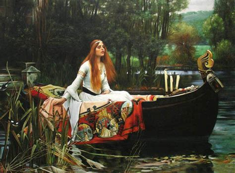 Oil painting portrait young girl with boat on lake - the