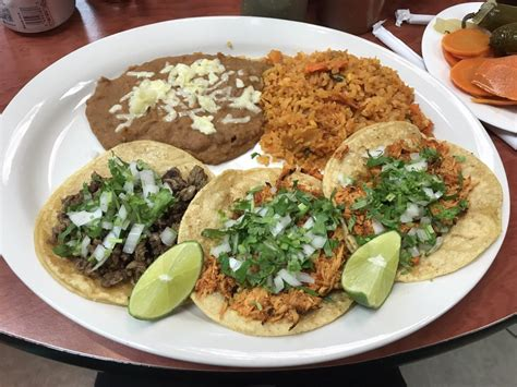 Mmm the best steak tacos!!! I love their rice and beans
