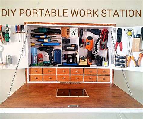 DIY PORTABLE WORK STATION : 13 Steps (with Pictures